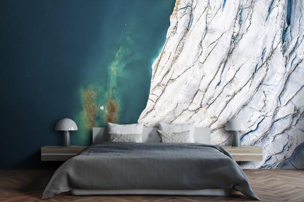 Photo au dessus du glacier papierpeint