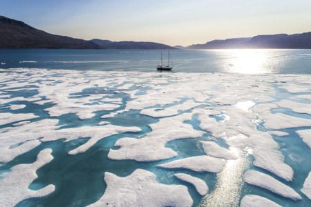 Photo navigation glacee ledoux
