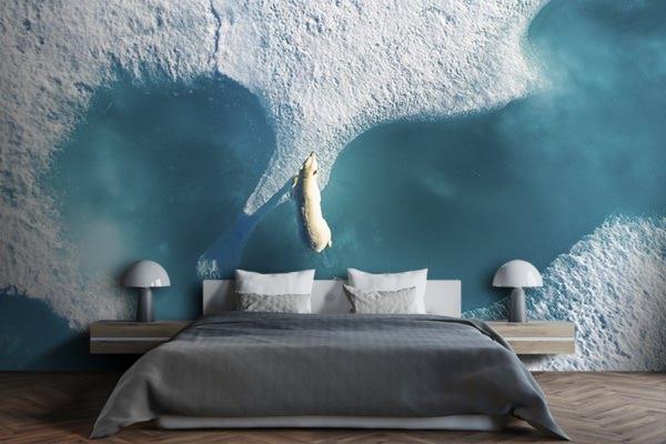 photo au dessus de lours polaire papierpeint