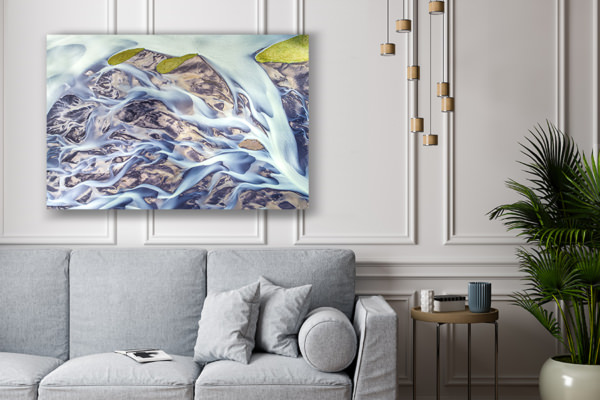 photo riviere islandaise deco