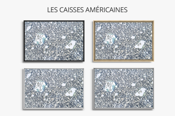 PHOTO LIT DE GLACE CAISSES AMERICAINES