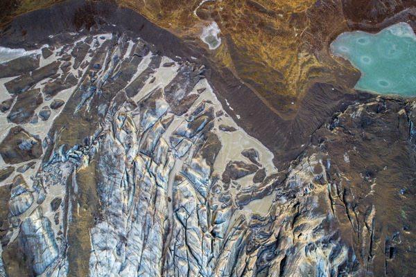 Photo au dessus du glacier qui fond ledoux florian