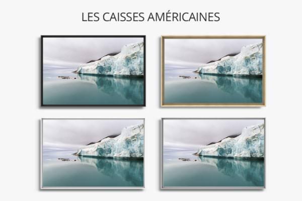 Photo front de glacier caisses americaines