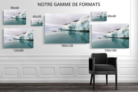 Photo front de glacier formats deco