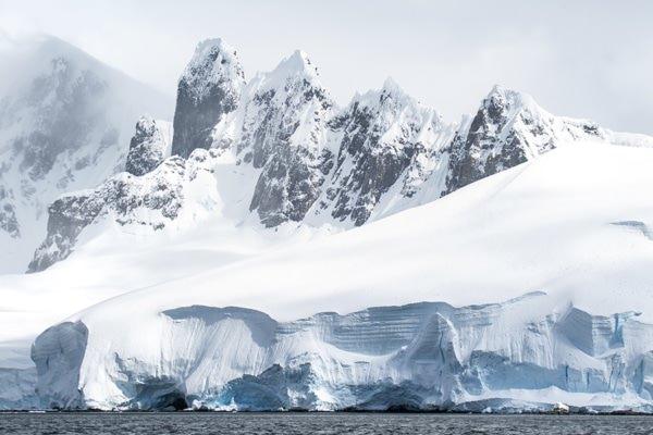 Photo les dents de lantarctique ledoux
