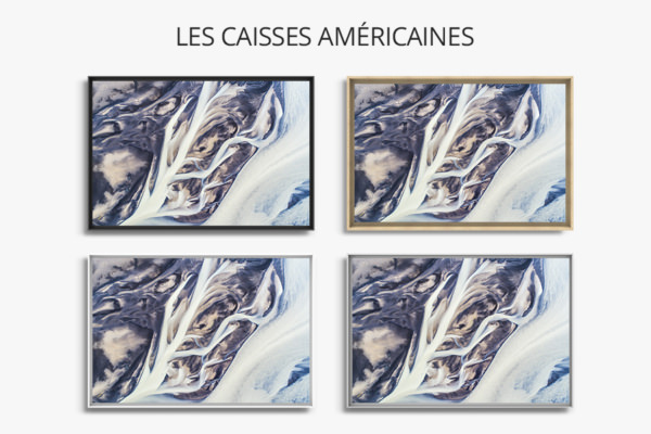 Photo lignes abstraites de rivieres caisse americaine