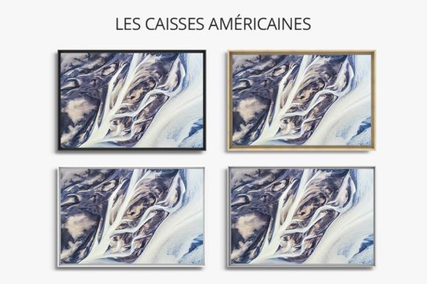 Photo lignes abstraites de rivieres caisse americaine