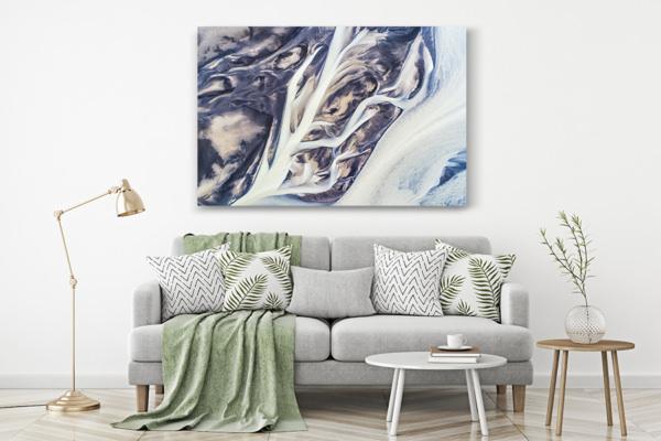 Photo lignes abstraites de rivieres deco