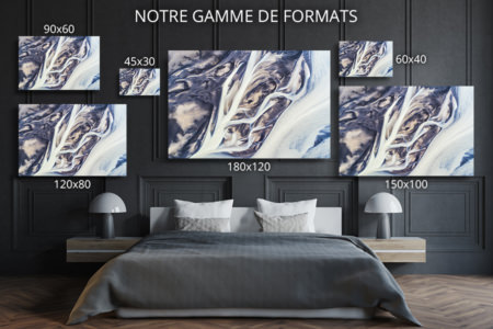 Photo lignes abstraites de rivieres formats deco
