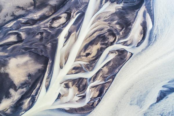 Photo lignes abstraites de rivieres ledoux