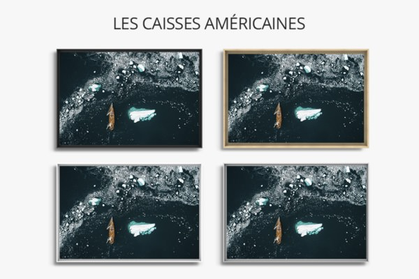 Photo navigation en eau glacee caisses americaines