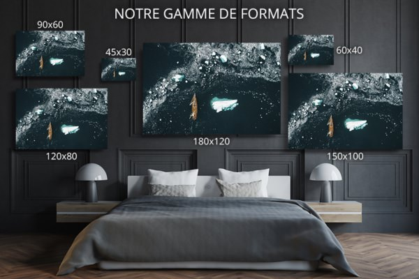 Photo navigation en eau glacee formats deco