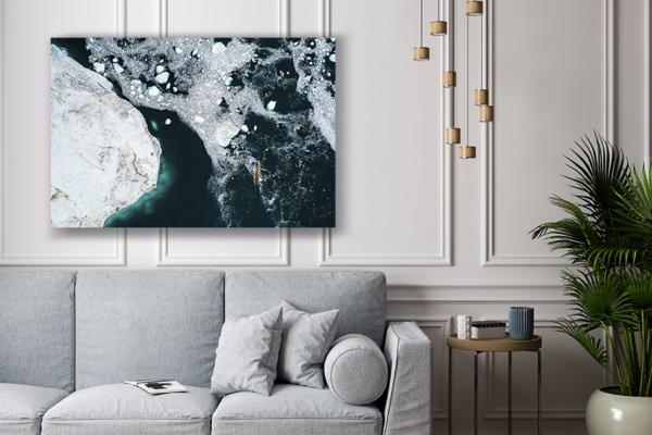 Photo navigation entre les icebergs deco