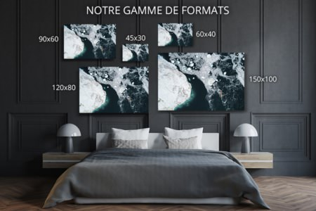 Photo navigation entre les icebergs formats deco