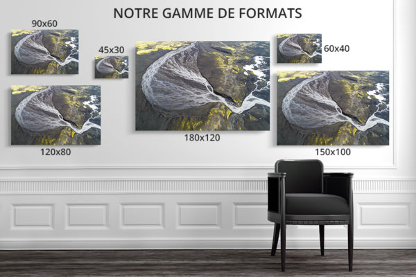 Photo riviere abstraite formats deco
