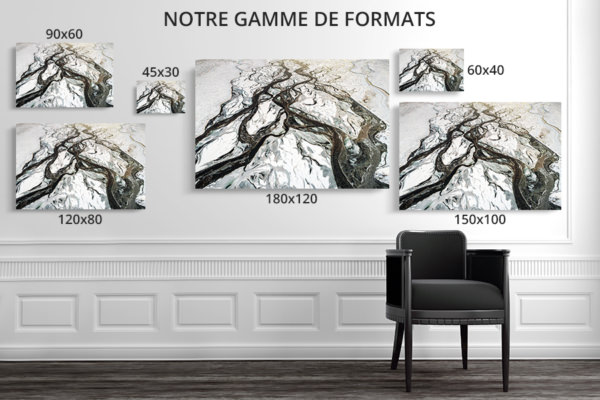 Photo riviere hivernale formats deco