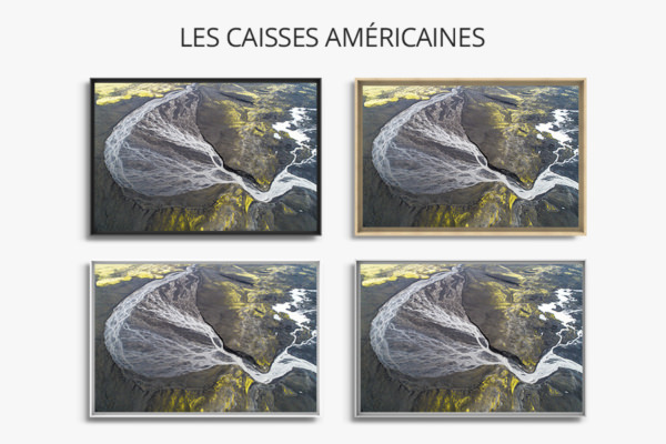 Photo rviviere abstraite caisse americaine