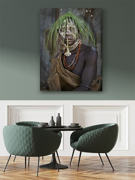 PHOTO Karo tribu portrait de femme DECO