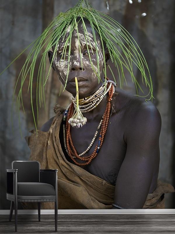 PHOTO Karo tribu portrait de femme PAPIER PEINT