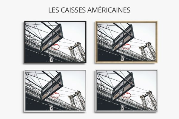 PHOTO Suspendu CAISSES AMERICAINES