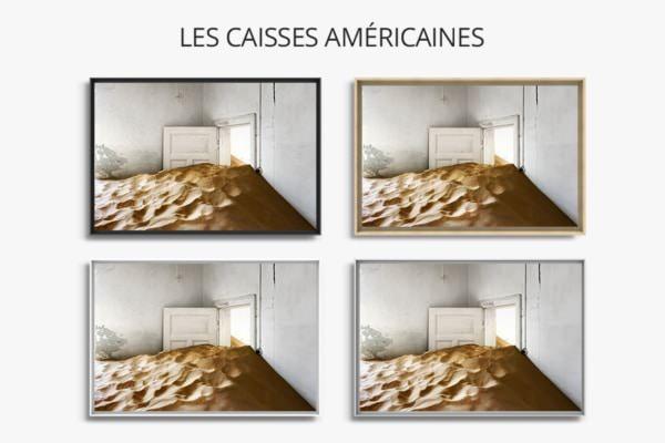 PHOTO la piece blanche caisses americaines