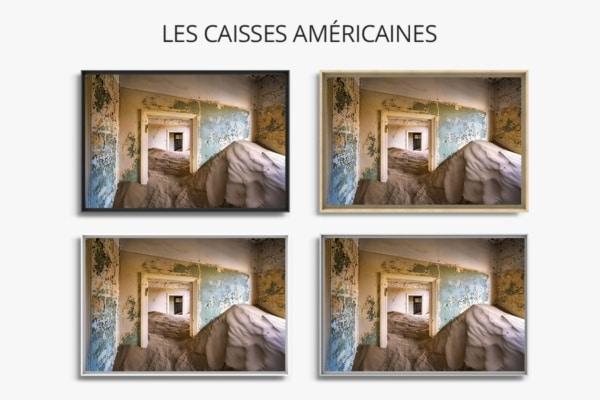 PHOTO le salon abandonné CAISSES AMERICAINES