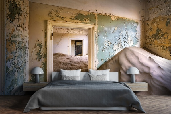 PHOTO le salon abandonné PAPIER PEINT