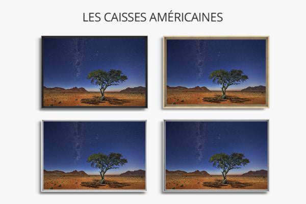 Photo Namibie acacia au clair de lune caisses americaines