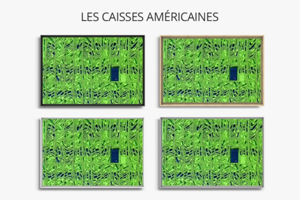 photo green cube dufour caisses americaines