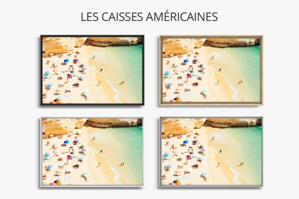 photo journee plage caisses americaines