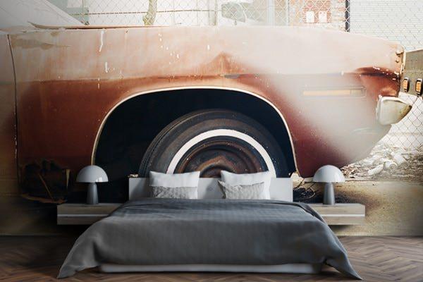 photo retired car papier peint
