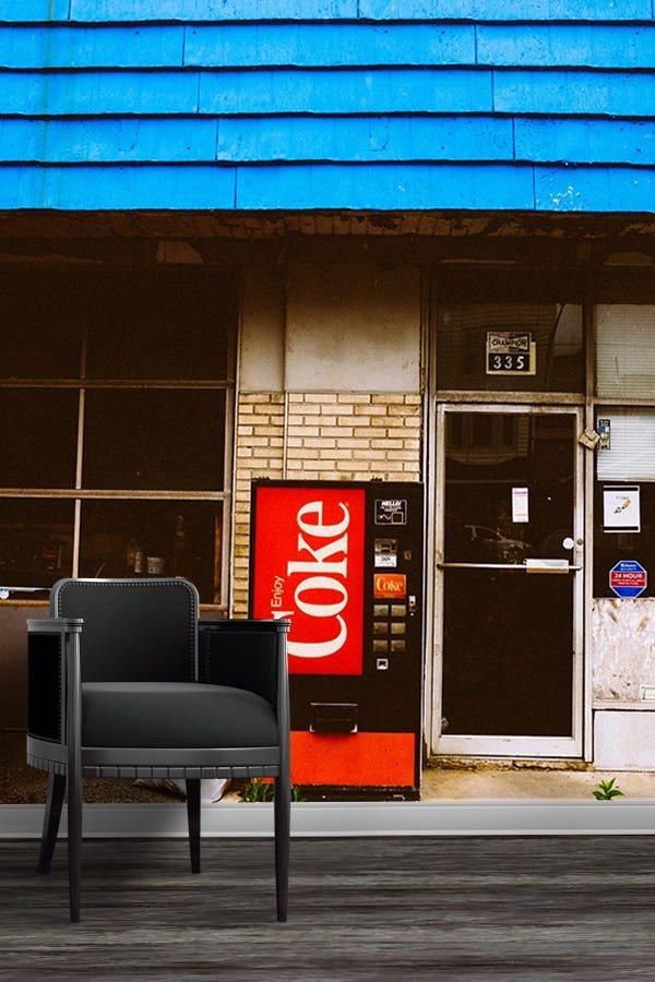 Photo machine coca cola jm saponaro papier peint