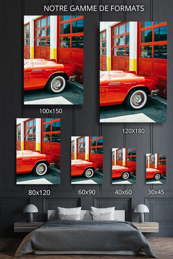 Photo voiture rouge jm saponaro format deco