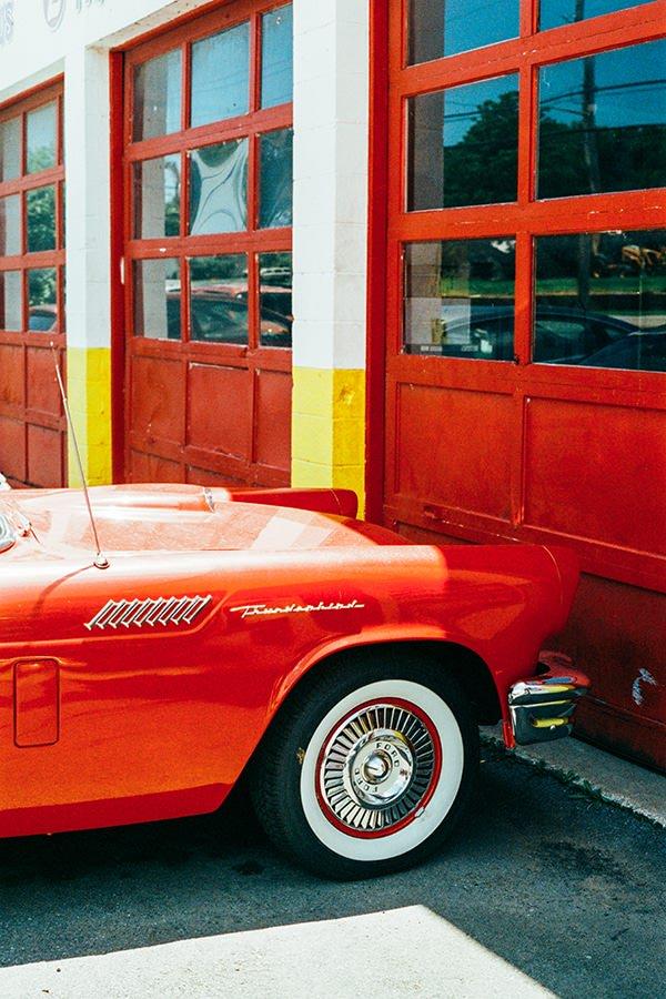 Photo voiture rouge jm saponaro