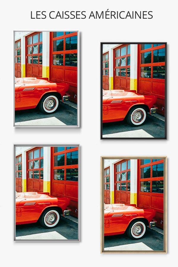 Photo voiture rouge jm saponaro caisse americaine