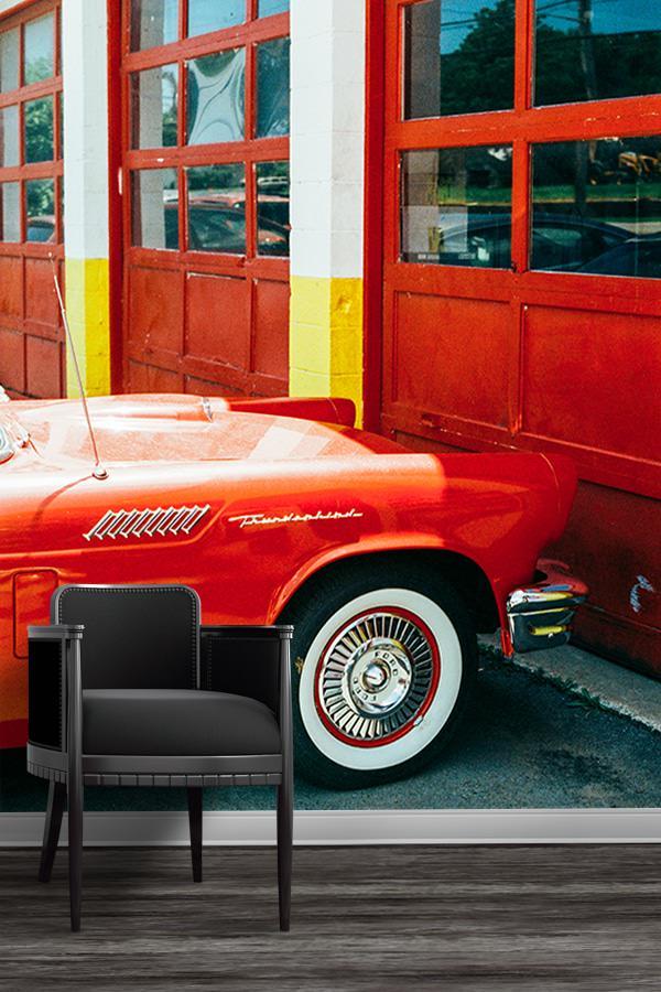 Photo voiture rouge jm saponaro papier peint