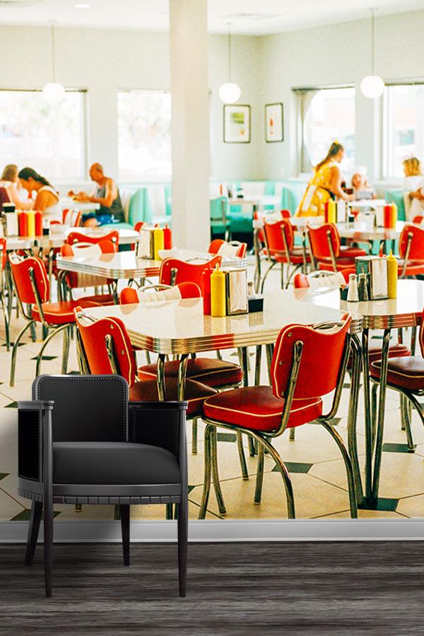 Photo-diner-vibes-papier-peint